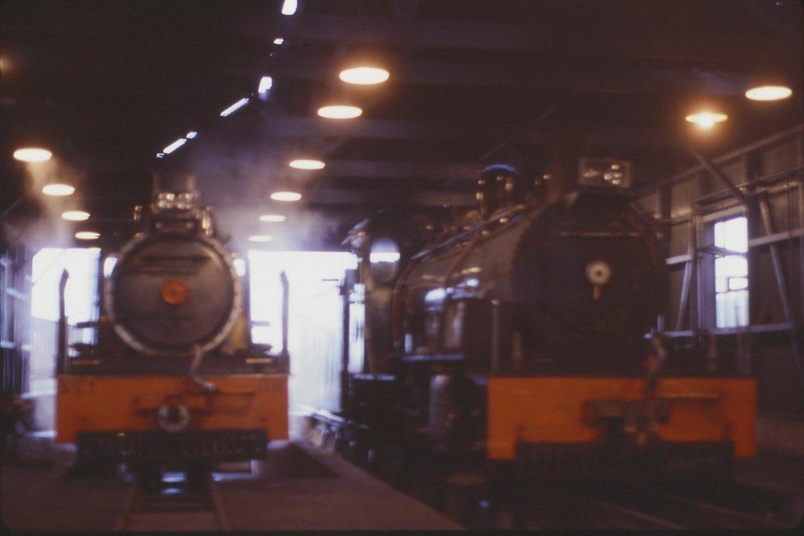 Inside engine shed