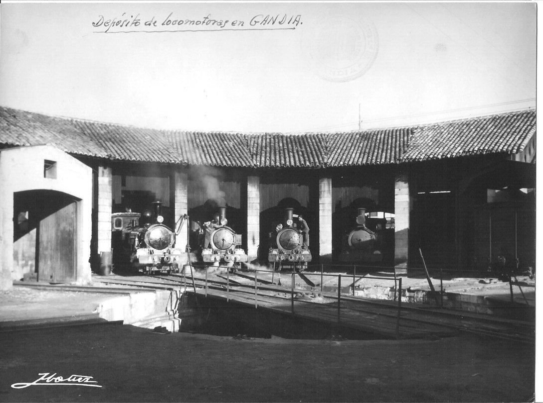 Deposito de Locomotoras en Gandia