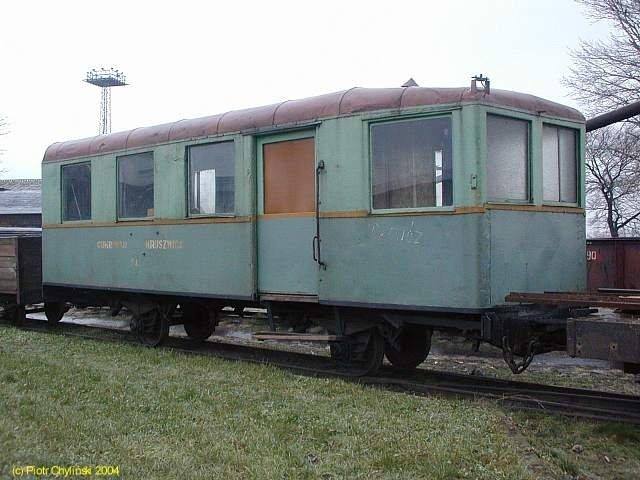 Former MBd1 motor car as work train car in Kruszwica