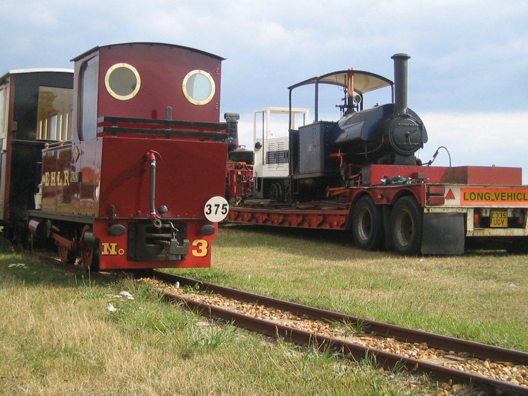 Wendy arriving at the Hayling Seaside Railway