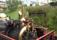 Lilian at Launceston Station.