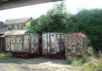 Abandoned wagons...
