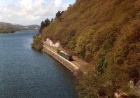 Train at Llanberis lake