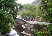 Restored bridge & track at Plas y Nant