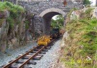 Works train at Plas y Nant