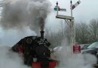 Excalibur making a Steamy exit from Rudyard Station