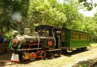 First restored passenger car from Perus-Pirapora Railway