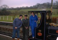 A girl on the footplate