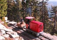 Diesel-drawn works train