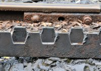 Close Up Of Rack Rail