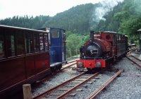 Corris locos 6 & 3 passing at Maespoeth
