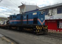 Incofer 30 on PW train at Heredia station