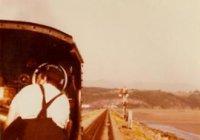 Linda crossing the Cob