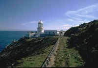 The old south lighthouse railway on Lundy Island