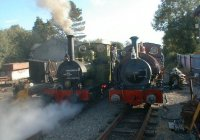 NO. 2 and 1 depart Pendre after the 5 engined departure from Wharf