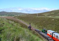 Looking downhill from Glengonnar