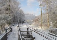 The main line in the snow