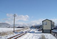 Main line in the snow