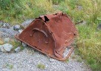 Rusting Robert hudson wagon skip at Threlkeld quarry