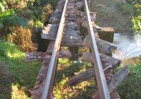 Derailment before Bridge.