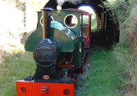 Smokey Joe  Steaming out of our new tunnel
