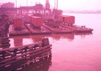 Barges in Gothenburg Harbour