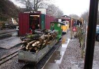 The Ferret ON the logging train