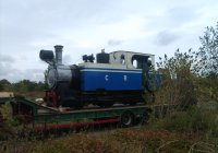 MLR 740 being delivered to Railworld 2008