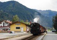Zillertalbahn nbr. 2 arriving at Ramsau Hippach